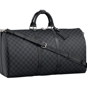 Louis Vuitton Keepall Bandouliere Bag Graphite